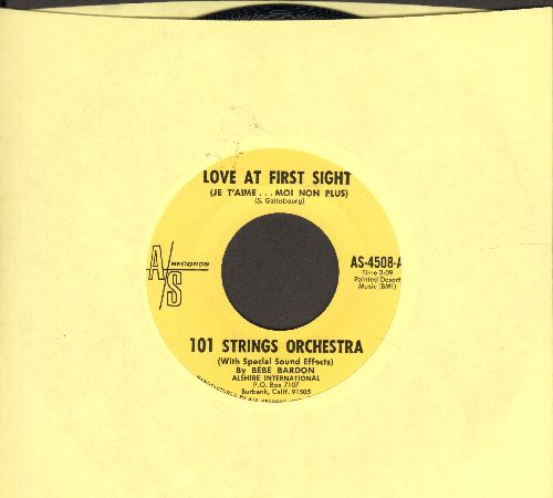 101 Strings - Love At First Sight (Je T'aime…Moi Non Plus)/Nancy's Song - M10/ - 45 rpm Records