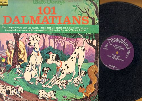 Disney - Walt Disney's 101 Dalmations in story and song (vinyl STEREO LP record with full-color picture pages) - VG7/EX8 - LP Records