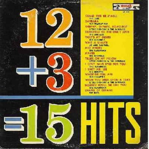 Dubs, Temptations, Shirelles, Channels, Flamingos, Jo Ann Campbell, Bobettes, others - 12 + 3 = 15 Hits: Barbara, Maybe, That's My Desire, Chapel Of Dreams, I Shot Mr. Lee, Tears On My Pillow (vinyl LP record, original 1962 first issue) - EX8/VG7 - LP Rec