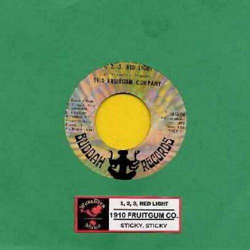 1910 Fruitgum Co. - 1, 2, 3 Red Light/Sticky Sticky (wol) - VG6/ - 45 rpm Records