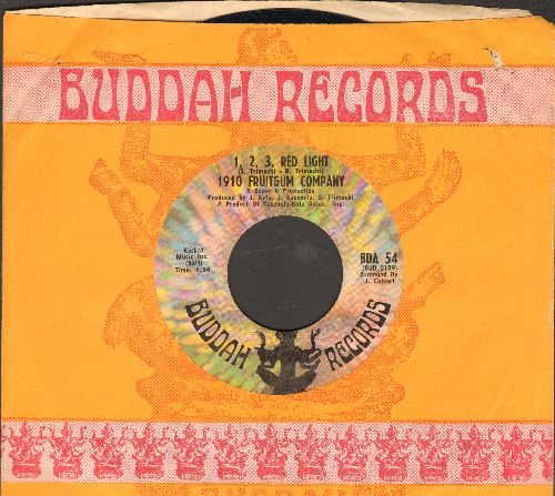 1910 Fruitgum Co. - 1, 2, 3 Red Light/Sticky Sticky (with Buddah company sleeve) - NM9/ - 45 rpm Records