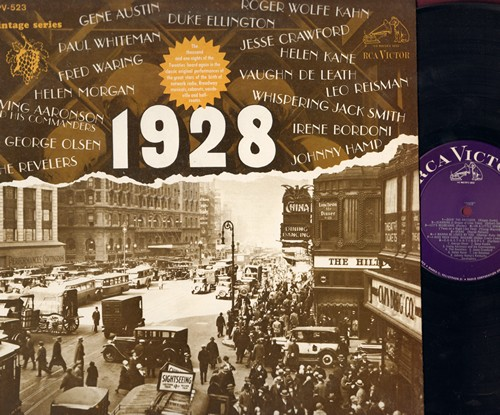 Olsen, George, Gene Austin, Helen Kane, Oual Whitman, others - 1928 - Vintage Series: Doin' The Raccoon, Let's Misbehave, I Wanna Be Loved By You, Bill, Me And My Shadow (vinyl LP record, re-issue of vintage recordings) - EX8/NM9 - LP Records