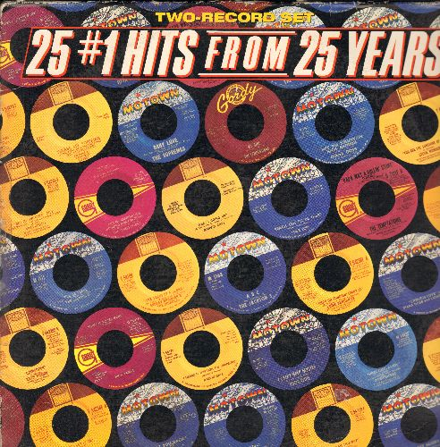 Marvelettes, Supremes, Temptations, Marvin Gaye, Four Tops, others - 25 # 1 Hits From 25 Years: Please Mr. Postman, Baby Love, My Girl, What's Going On, I Can't Help Myself (2 vinyl LP record) - EX8/EX8 - LP Records