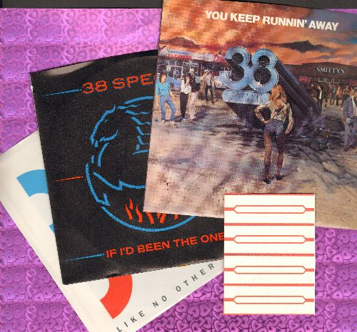38 Special - 38 Special 3-Pack of first pressing 45s with picture sleeves. Includes hits You Keep Runnin' Away, If I'd Been The One and Like No Other Night. NICE condition! - M10/NM9 - 45 rpm Records