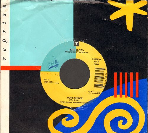 B-52's - Love Shack/Channel Z (with company sleeve) - EX8/ - 45 rpm Records