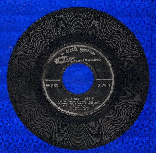 Elliot, Don & The Skip Jacks - 77 Sunset Strip (7 inch 45rpm Little Golden Record - EX8/ - 45 rpm Records