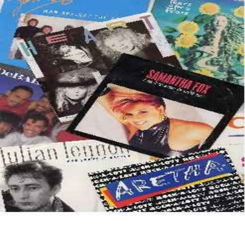 Fox, Samantha, Heart, DeBarge, Aretha Franklin, Survivor, Julian Lennon, Cameo, Tears For fears - 80s - 8-Pack - 8 Top 40 45s from the 80s with picture sleeve - Hit Titles include I Only Want To Be With You, Now You're In Heaven, Man Against The World, Rh