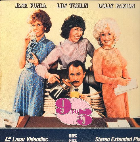 9 to 5 - 9 to 5 - LASER DISC version of the Classic Comedy starring Jane Fonda, Lily Tomlin and Dolly Parton (This is a LASER DISC, not any other kind of media!) - NM9/EX8 - Laser Discs