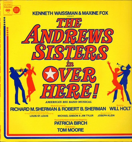 Andrews Sisters - The Andrews Sisters in Over Here! - America's Big Band Musical (vinyl STEREO LP record) - NM9/NM9 - LP Records