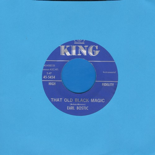 Bostic, Earl - That Old Black Magic/Full Moon And Emty Arms - EX8/ - 45 rpm Records