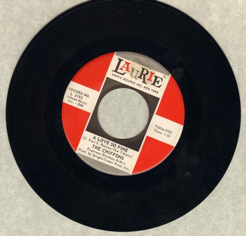 Chiffons - A Love So Fine/Only My Friend - VG7/ - 45 rpm Records