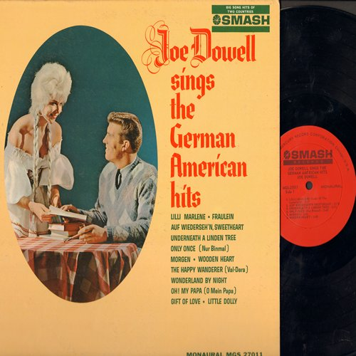 Dowell, Joe - German American Hits: Lilli Marlene, Wooden Heart, Morgen, Oh Mein Papa, The Happy Wanderer (vinyl MONO LP record, US Pressing, sung in German and English) - NM9/EX8 - LP Records