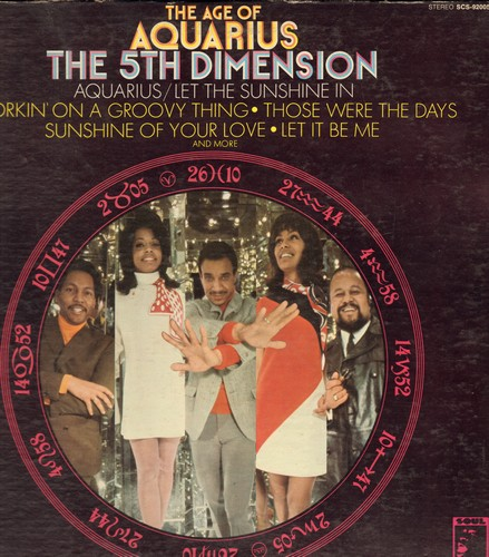 Fifth Dimension - The Age Of Aquarius: Let It Be Me, Those Were The Days, Wedding Bell Blues (vinyl STEREO LP record, gate-fold cover) - EX8/EX8 - LP Records