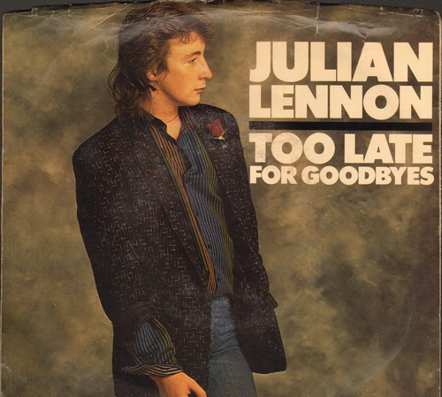 Lennon, Julian - Too Late For Goodbyes/Let Me Be (with picture sleeve) - NM9/EX8 - 45 rpm Records