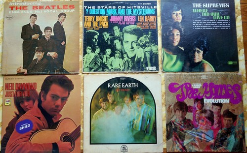 LP Cover 6-Pack - Set #5 includes 6 Vintage LP covers (NO records!) - Exactly as pictured, great for decoration or as replacement covers.  - VG7/ - Supplies