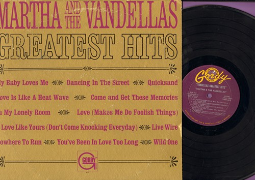 Martha & The Vandellas - Greatest Hits: Dancing In The Street, Nowhere To Run, Quicksand, Come And Get These Memories (vinyl MONO LP record) - VG7/VG7 - LP Records