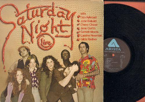Saturday Night Live - Saturday Night Live with Dan Aykroyd, John Belushi, Chevy Chase, Jane Curtin, Garrett Morris, Laraine Newman, Gilda Radner (vinyl STEREO LP record) - EX8/EX8 - LP Records