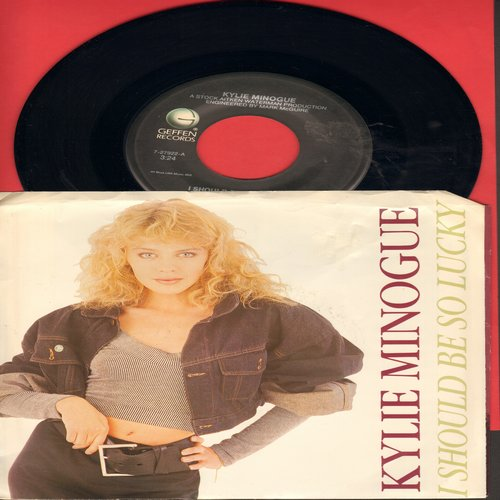 Minogue, Kylie - I Should Be So Lucky/I Should Be So Lucky (Instrumental) (with picture sleeve) - M10/EX8 - 45 rpm Records