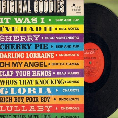 Skip & Flip, Knockouts, Bertha Tillman, Chevrons, others - Original Goodies: Cherry Pie, Darling Lorraine, Gloria, Lullaby, Oh My Angel (vinyl MONO LP record) - NM9/EX8 - LP Records