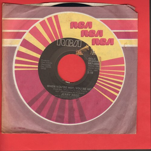 Reed, Jerry - When You're Hot, You're Hot/Amos Moses (re-issue) - VG7/ - 45 rpm Records