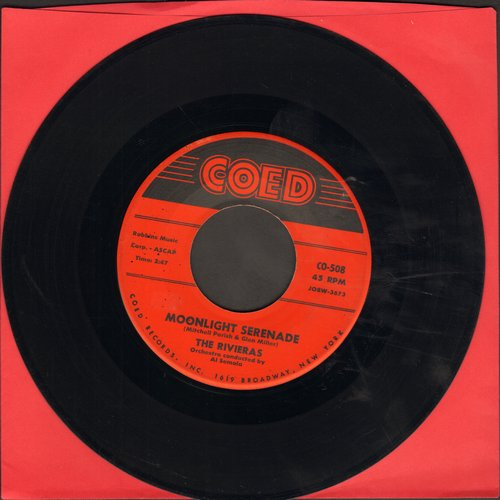 Rivieras - Moonlight Serenade/Neither Rain Nor Snow (with juke box label) - NM9/ - 45 rpm Records