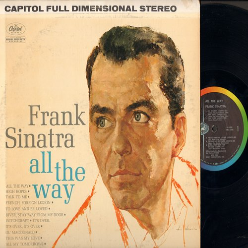 Sinatra, Frank - All The Way: High Hopes, Witchcraft, River Stay 'Way From My Door (vinyl STEREO LP record, tape on cover) - NM9/VG7 - LP Records