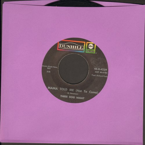 Three Dog Night - Mama Told Me Not To Come/Rock & Roll Widow - VG7/ - 45 rpm Records