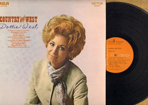 West, Dottie - Country & West: It's Dawned On Me You're Gone, As Long As I Love You, Tomorrow Never Comes, Loving You, I Stayed Long Enough (vinyl STEREO LP record) - EX8/NM9 - LP Records