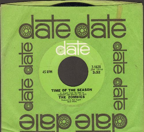 Zombies - Time Of The Season/Friends Of Mine (with vintage Date company sleeve) - EX8/ - 45 rpm Records
