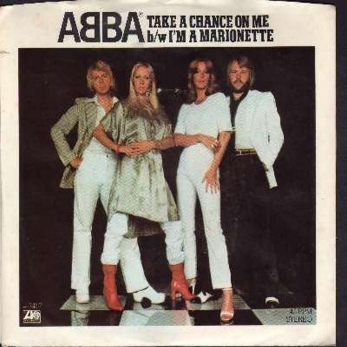 ABBA - Take A Chance On Me/I'm A Marionette (with picture sleeve) - EX8/EX8 - 45 rpm Records