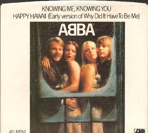 ABBA - Knowing Me, Knowing You/Happy Hawaii (with picture sleeve) - EX8/EX8 - 45 rpm Records