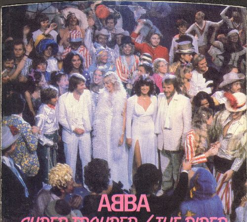 ABBA - Super Trouper/The Piper (with picture sleeve) - EX8/NM9 - 45 rpm Records