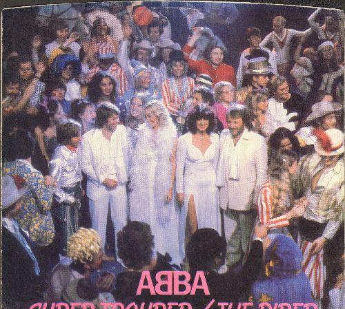 ABBA - Super Trouper/The Piper  (with RARE picture sleeve) - NM9/EX8 - 45 rpm Records