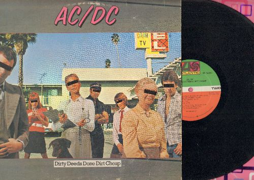AC/DC - Dirty Deeds Done Dirt Cheap: There's Gonna Be Some Rockin', Big Balls, Problem Child, Squealer (vinyl STEREO LP record) - VG7/VG7 - LP Records