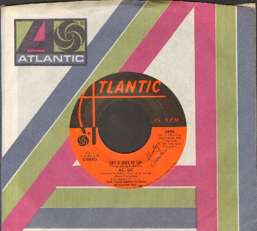 AC/DC - Let's Get It Up/Snowballed (with Atlantic company sleeve) - VG7/ - 45 rpm Records