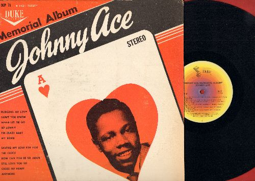 Ace, Johnny - Johnny Ace Memorial Album: Pledging My Love, Don't You Know, Cross My Heart, Still Love You So (vinyl  LP record, re-issue of vintage recordings) - NM9/VG7 - 45 rpm Records