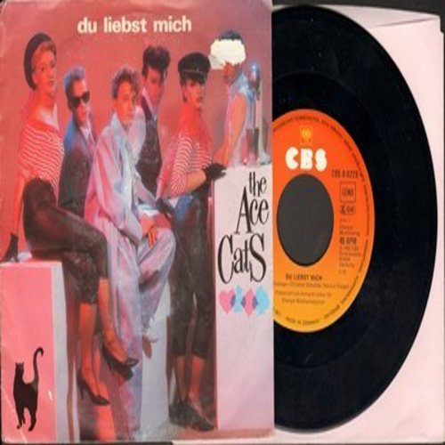 Ace Cats - Du liebst mich/Lass' den Vorhang zu (German Pressing, sung in German, with picture sleeve) - NM9/VG7 - 45 rpm Records