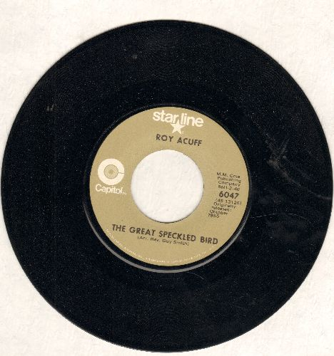 Acuff, Roy - The Great Speckled Bird/Wabash Cannonball (double-hit re-issue) - NM9/ - 45 rpm Records