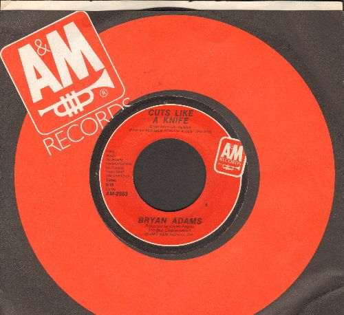 Adams, Bryan - Cuts Like A Knife/Lonely Nights (with A&M company sleeve) - EX8/ - 45 rpm Records