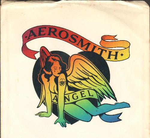 Aerosmith - Angel/Girl Keeps Coming Apart (with picture sleeve) - NM9/EX8 - 45 rpm Records