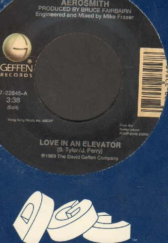 Aerosmith - Love In An Elevator/Young Lust (with Geffen company sleeve) - EX8/ - 45 rpm Records