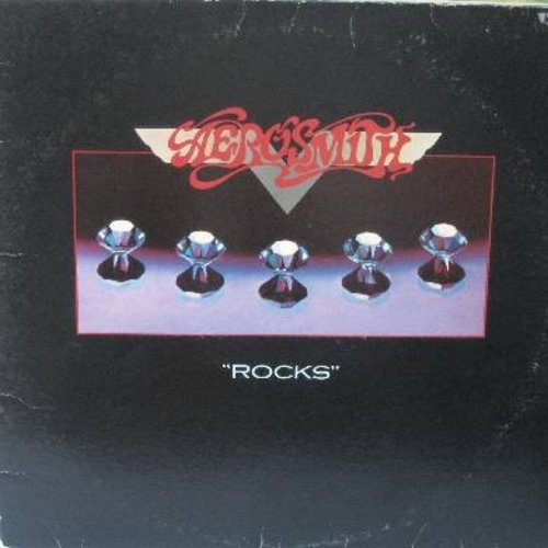 Aerosmith - Rocks: Sick As A Dog, Lick And A Promise, Rats In The Cellar, Nobody's Fault, Get The Lead Out (vinyl STEREO LP record) - EX8/VG7 - LP Records