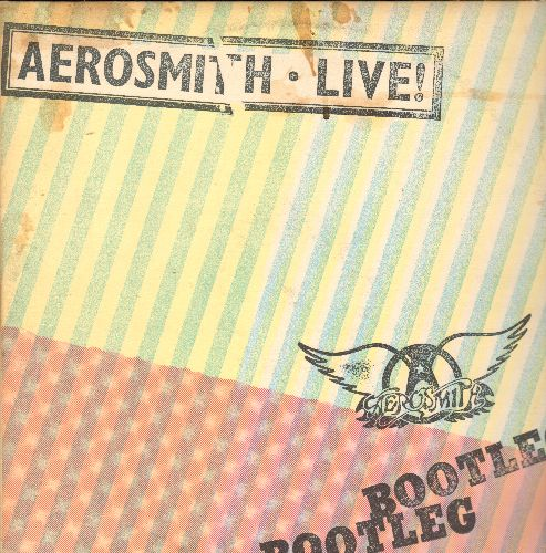 Aerosmith - Aerosmith LIVE! Bootleg: Toys In The Attic, Come Together, Walk This Way, Dream On, Sick As A Dog (2 vinyl STEREO LP records, gate-fold cover) - EX8/EX8 - LP Records