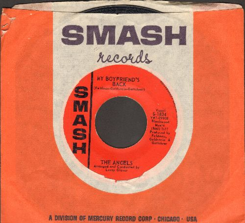 Angels - My Boyfriend's Back/(Love Me) Now (FANTASTIC over-looked flip-side!) (with vintage Smash company sleeve) - NM9/ - 45 rpm Records