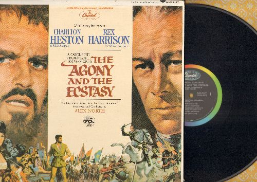 Agony and the Ecstasy - The Agony and the Ecstasy - Original Motion Picture Soundtrack (vinyl STEREO LP record, gate-fold cover with picture pages) - NM9/EX8 - LP Records