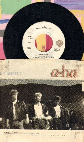 A-Ha - Take On Me/Love Is Reason (with picture sleeve) - NM9/EX8 - 45 rpm Records
