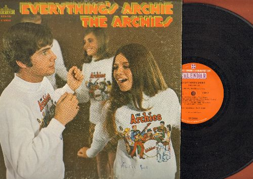 Archies - Everything's Archie: Sugar Sugar, Feelin' So Good, Rock & Roll Music, Bicycles Roller Skates And You (vinyl STEREO LP record) - EX8/EX8 - LP Records
