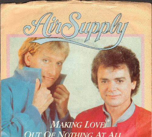 Air Supply - Making Love Out Of Nothing At All/Late Again (LIVE) (with picture sleeve) - NM9/EX8 - 45 rpm Records