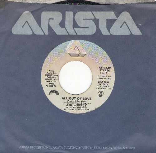Air Supply - All Out Of Love/Old Habits Die Hard (with Arista company sleeve) - EX8/ - 45 rpm Records