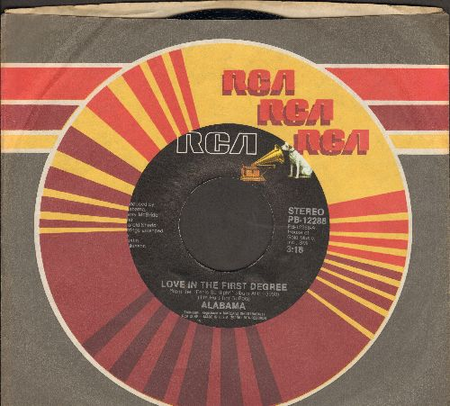 Alabama - Love In The First Degree/Ride The Train (with RCA company sleeve) - M10/ - 45 rpm Records